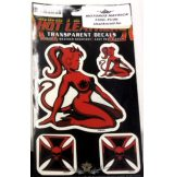 IRON GIRL. Vinyl stickers. matrica szett