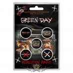 Green Day - Button Badge Pack.  Revolution Radio.   jelvényszett