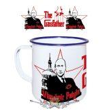 Gasfather - Putin.  zománcozott retro fém bögre