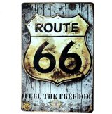 Route 66 - Freedom Vintage Metal signs . 30x40.cm. fém tábla kép