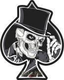 Pikk Ász - Skull.  felvarró