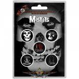MISFITS - SKULL Button Badge Pack.  jelvényszett