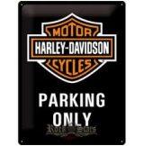 HARLEY DAVIDSON - Parking Only - 15x20.cm.  fém tábla kép