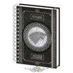 GAME OF THRONES (STARK) A5 NOTEBOOK.   napló, notesz