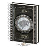 GAME OF THRONES (STARK) A5 NOTEBOOK.   napló, notesz