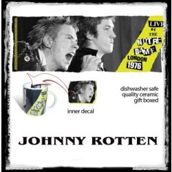 SEX PISTOLS - JOHNNY ROTTEN. ROCK ICON MUGS. zenekaros bögre.
