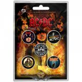 AC/DC - Button Badge Pack.  Highway to Hell.   jelvényszett