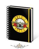 Guns N Roses  - Bullet Logo A5 Wiro Notebook.   napló, notesz