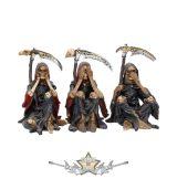 Halál figurák - Something Wicked 9.5cm. 3 db. NEM3858..  koponya figura, kaszások.