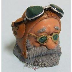 Biker Butt Headz - Öreg motoros.  cigaretta tartó, füst elnyelő figura, toll és ceruzatartó.