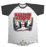 Marilyn Manson - Raglan Sweet Dreams T-Shirt.  raglán zenekaros  póló.