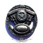V BLOKK STAR . KGJ.  nagyméretű fém motoros jelvény