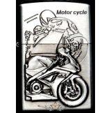 MOTOR CYCLE SILVER 4.  zippo fazonú öngyujtó
