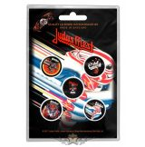 Judas Priest -  'Turbo' Button Badge Pack.   jelvényszett