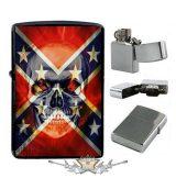 Konföderációs zászló koponyával.  öngyujtó