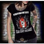 Az élet túl rövid ahhoz, hogy szar zenét halgass.  női póló