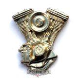 V Blokk big,   KGJ. nagyméretű fém motoros jelvény