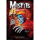 MISFITS - AMERICAN PSYCHO. TEXTILE POSTER. zenekaros zászló