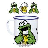 Beer Monster.  zománcozott retro fém bögre