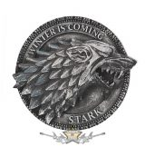 GAME OF THRONES - House Stark Magnet 6cm.  3D. fantasy dísz, hütőmágnes