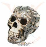 Koponya fém szerelvényekkel - Skull with metal fittings.  koponya figura