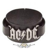 AC/DC - Logo - bőr csuklószorító.   karkötő, csuklópánt
