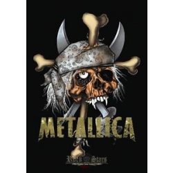 METALLICA - PIRATE SKULL. TEXTILE POSTER. zenekaros zászló