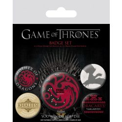 GAME OF THRONES - (FIRE AND BLOOD) BADGEPACK.  jelvényszett