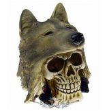 Koponya farkasfejjel. Skull With Wolf Hat.   CL.75508. koponya figura