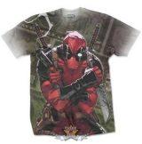 Deadpool - Cash Sublimation Marvel X-Men Official T-Shirt.    filmes póló