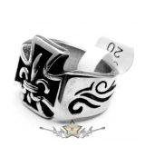 Iron cross -  Anjou. ring.  Steinless Steel. gyűrű