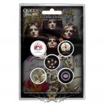 Queen - Button Badge Pack.  Early Albums.   jelvényszett