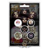Queen - Button Badge Pack.  Early Albums.   jelvényszett