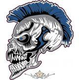 Punks Not Dead.  felvarró.