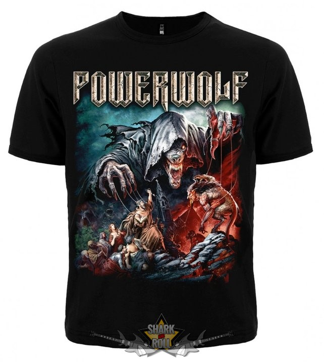 Powerwolf - Sacrament zenekaros póló - Shark n Roll - Rock- Metal ... 6755f77434