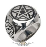 Classic pentagram steel ring. Steinless Steel. gyűrű