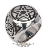 Classic pentagram steel ring. Steinless Steel. gyűrű