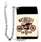 Motorcycle - New York.  textil pénztárca