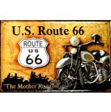 ROUTE 66 - THE MOTHER ROAD.  20X30.cm. fém tábla kép