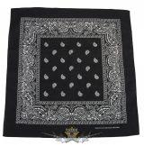 Kendő - Bandana. klasszik design, fekete-fehér.  vászon kendő