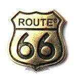 Route 66.  KGJ. 3.cm. kitűző,  fém motoros jelvény