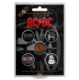 AC/DC -  'For Those About To Rock' Button Badge Set.   jelvényszett