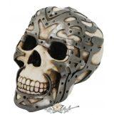 Skull with metal fittings - Koponya fém szerelvényekkel . 766-7140. koponya figura