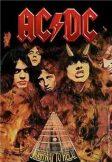 AC/DC - Highway fire TEXTILE POSTER. zenekaros zászló