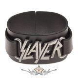 SLAYER - Logo - bőr csuklószorító.   karkötő, csuklópánt