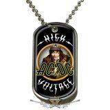AC/DC - Dog Tag Pendant. High Voltage . DT067.  medál, dog tag