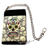 MEXICAN SKULLS.  textil pénztárca