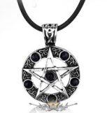 Witch - Boszorkány  pentagram. strasszos.    nyaklánc, medál