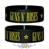 GUNS N ROSES - Back In Black Rubber Wristband.   karkötő, csuklópánt