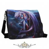Dragon Mage Embossed Shoulder Bag . válltáska